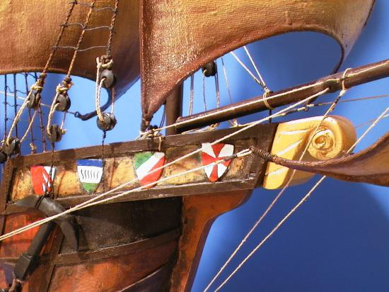 Bowsprit Flags on Model