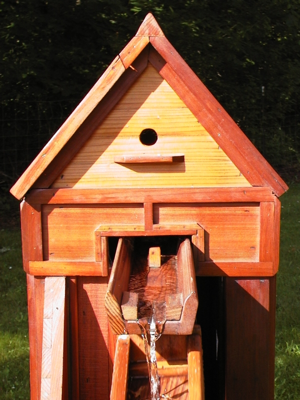 Birdhouse and Water Chute